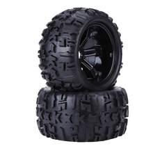 Juego de neumáticos universales para coche de control remoto, 4 Uds., neumático de caucho y llantas de rueda, ejes de 17mm para coche camión RC 1/8, accesorios de piezas de repuesto