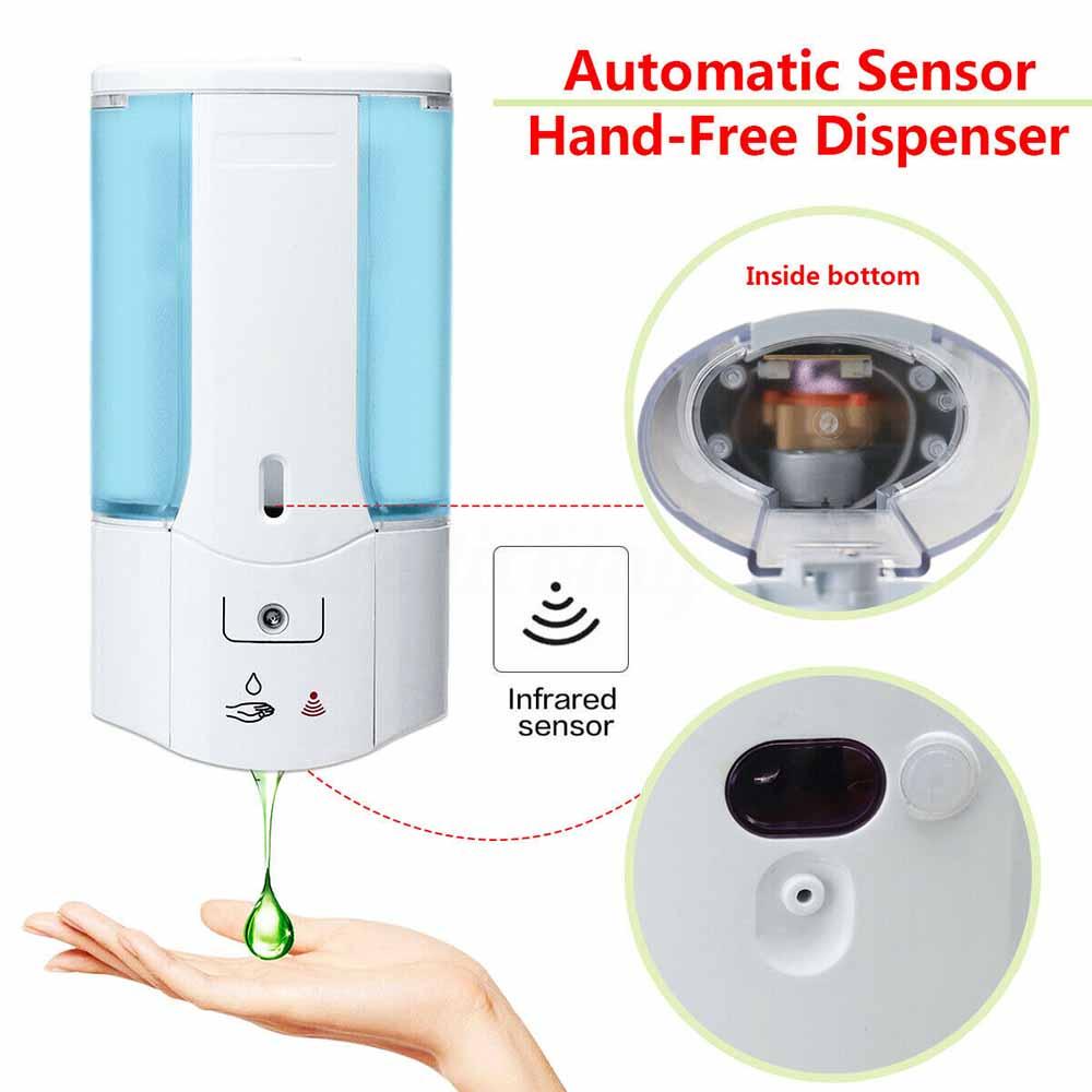 400 мл настенный автоматический раздатчик мыла Инфракрасный дозатор Индукционная смарт-дозатор для жидкого мыла для кухни, аксессуары для в...