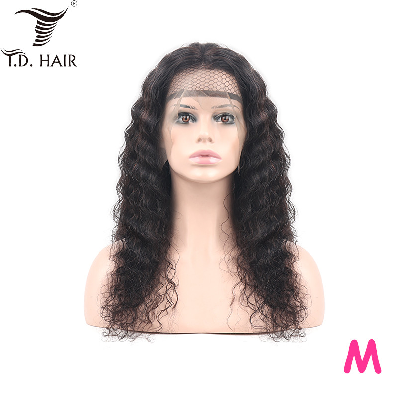 Td Deep Wave Remy Hair Wigs For Winter 13x4 Lace 180% Front Wig Middle Ration 10-30 Inch Brazilian Wigs Hair For Black Women
