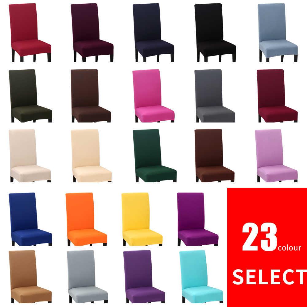 1/2/4/6Pcs 솔리드 컬러 의자 커버 스판덱스 스트레치 탄성 Slipcovers 의자 커버 주방 다이닝 룸 웨딩 연회 호텔