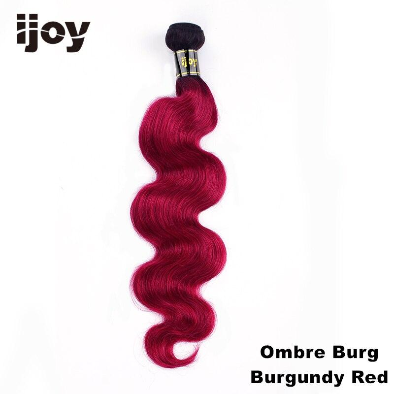 Image 5 - Ombre feixes de cabelo humano #613/27/30/99j/borgonha 8 bundles 26 bundles m feixes de tecer cabelo brasileiro não remy onda do corpo extensão do cabelo ijoyApliques ondulados   -