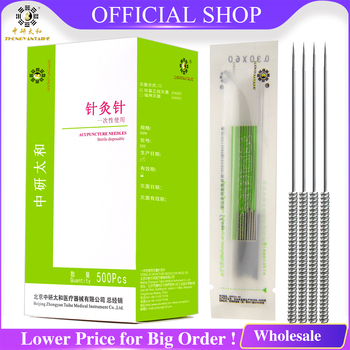 ZhongyanTaihe Acupuncture Needle 500pcs Lose Weight Sterile Acupuncture Needles with Tube Slim Health Massager Disposable Needle acupuncture needle 500 pcs with tube disposable needle zhongyan taihe sterile needle beauty acupuncture massager