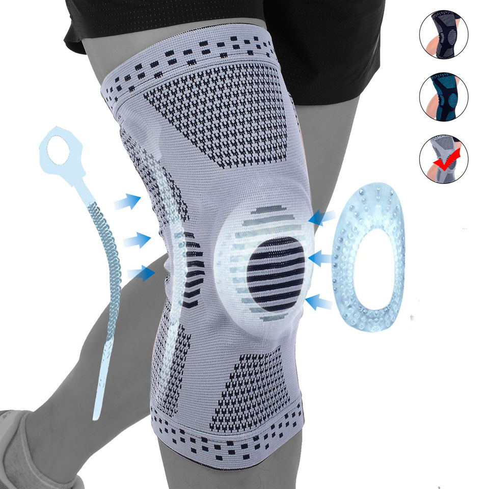 1PCS Knee Brace Compression Sleeve - Knee Braces Knee Support For Arthritis, Meniscus Tear, Joint Pain Relief & Sport