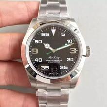 Top luksusowy zegarek męski Air King szafirowe szkło ze stali nierdzewnej automatyczne mechaniczne męskie zegarki 40MM zegarki na rękę