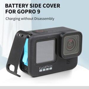 Image 2 - SHOOT غطاء جانبي قابل للإزالة لـ GoPro Hero 9 ، حامل واقي أسود ، منفذ شحن ، ملحقات كاميرا الحركة