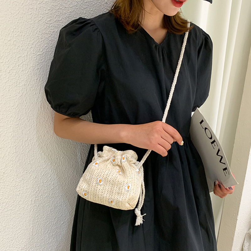 Cute Small Size Straw Travel Bag
