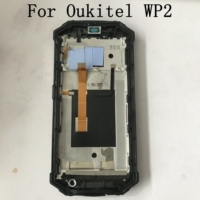 Used Oukitel WP2 LCD Display Screen + Touch Screen + Frame+Power On Off Button+Volume For Oukitel WP2 MT6750T Octa Core 6.0