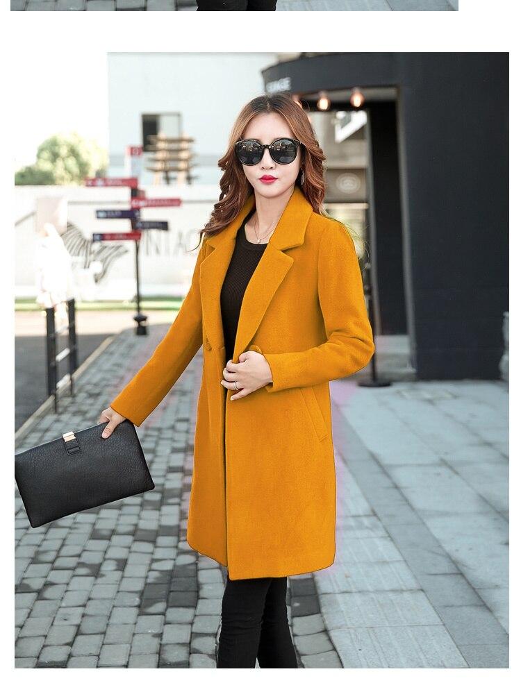 YICIYA Winter autumn Coat Women Wool Jacket Long Oversized Coats Plus Size Large Black Blend Woolen Warm Outerwear 2019 Clothing 6