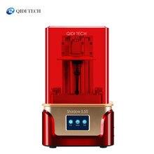 Sombra da impressora 3d qidi tech sla/lcd 5.5 s, impressora de resina lcd uv, com trilho de forro de eixo z duplo, tamanho de construção 115*65*150mm