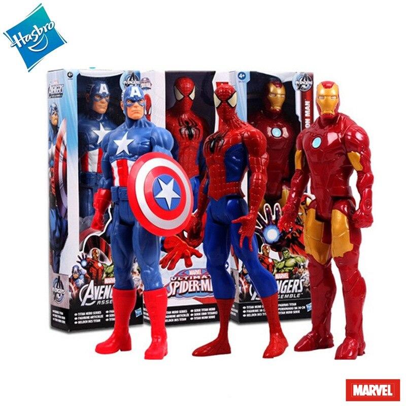 Figurine d'anime Disney en boîte Marvel Avengers Hulk Spiderman Iron Man poupées faites à la main figurine d'action Marvel décoration jouet garçon cadeaux