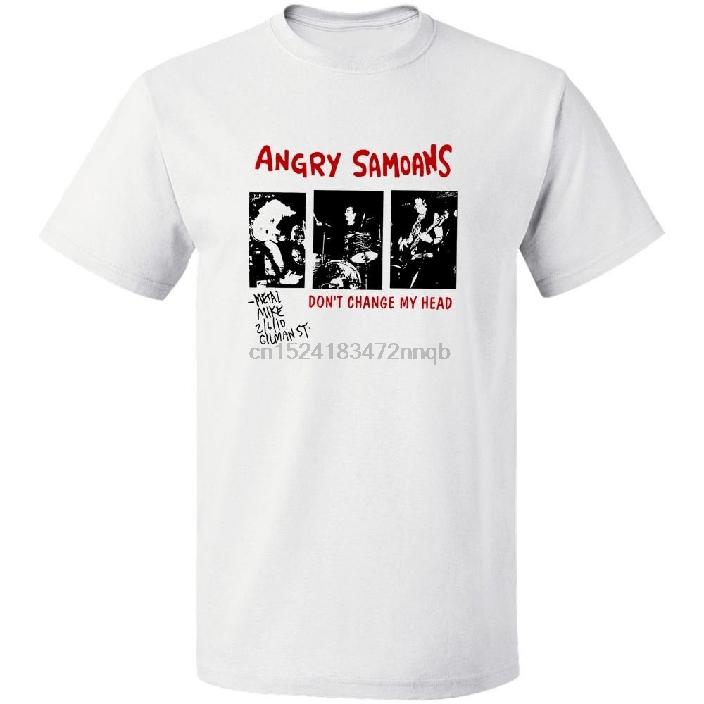 Angry Samoans Poster Black T-Shirt Free Shipping  S -3XL Mens T Shirt  Summer Hipster Solid Color
