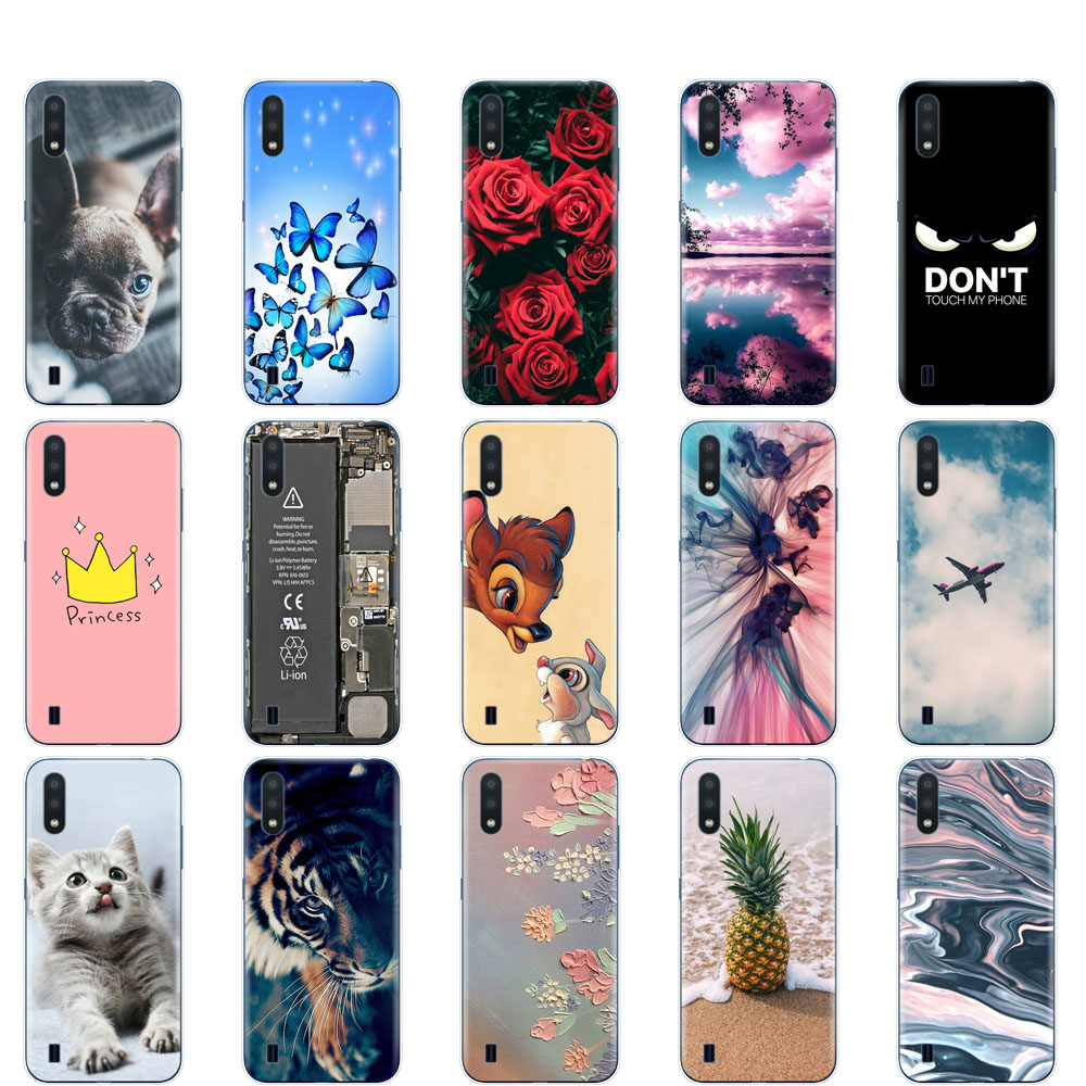 Case For Samsung A01 Case Soft Silicon Back Cover  For Samsung Galaxy A01 GalaxyA01 A 01 A015 5.7inch Coque Bumper Cute