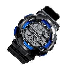Relógio digital das crianças na moda à prova dtrendy água multifunções masculino esportes luminosos relógios eletrônicos para o homem do menino estudante pulso