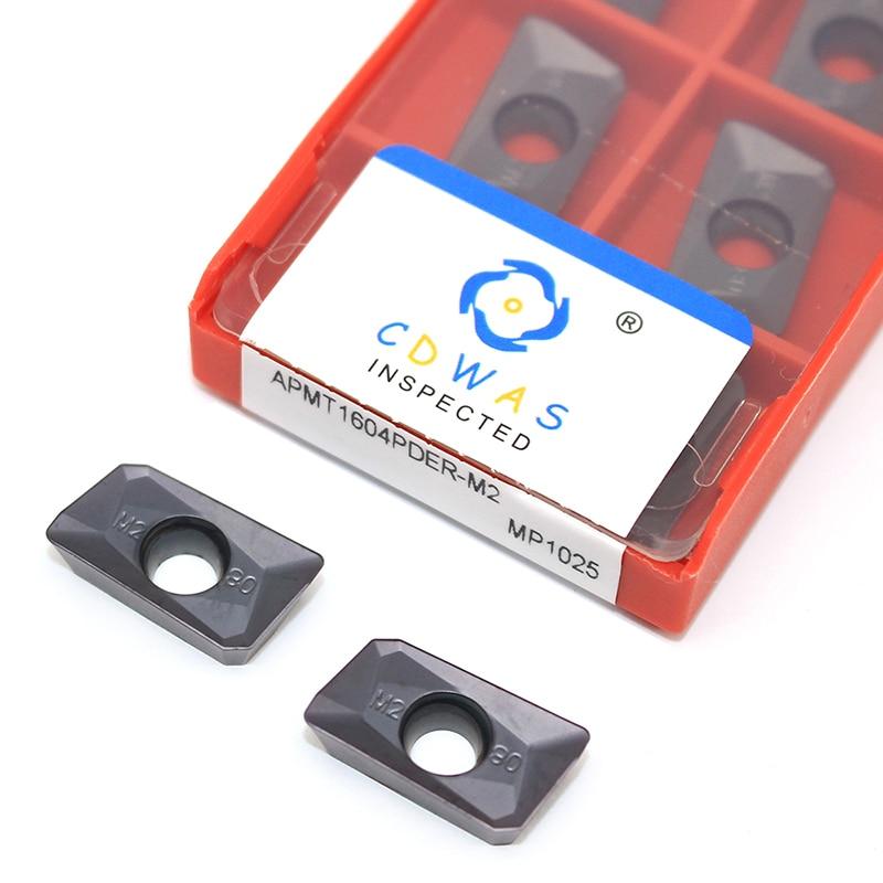 Купить с кэшбэком 10pcs APMT1604 PDER M2 MP1025 Milling Turning Tool Carbide Insert APMT 1604 Face Mill Lathe Milling CNC Tools Milling Cutter