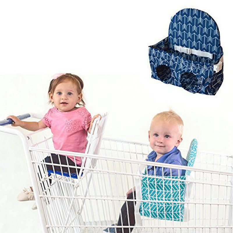 Image 4 - Baby shopping cart hammock portable push pull cart seat  supermarket shopping cart baby safety seatStrollers Accessories   -