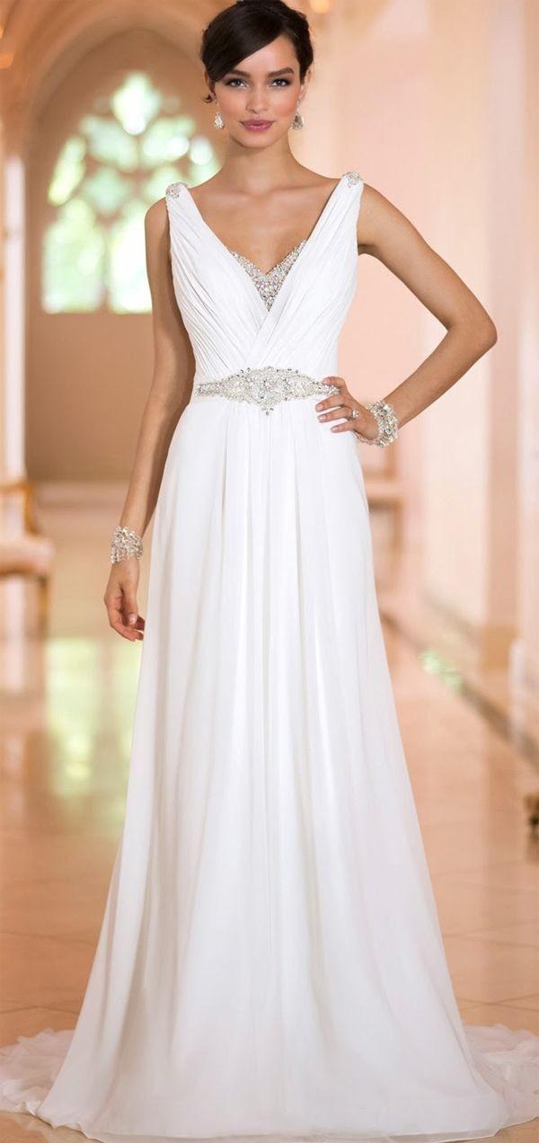 Fashion V Neck Pleated Beaded A-Line Chiffon Vestido De Noiva Custom Sleeveless Formal Bridal Gown Mother Of The Bride Dresses