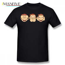 Curious George T Shirt Cartoon Print T-Shirt Printed Short Sleeve Tee Mens Cotton Funny Casual 6xl Tshirt