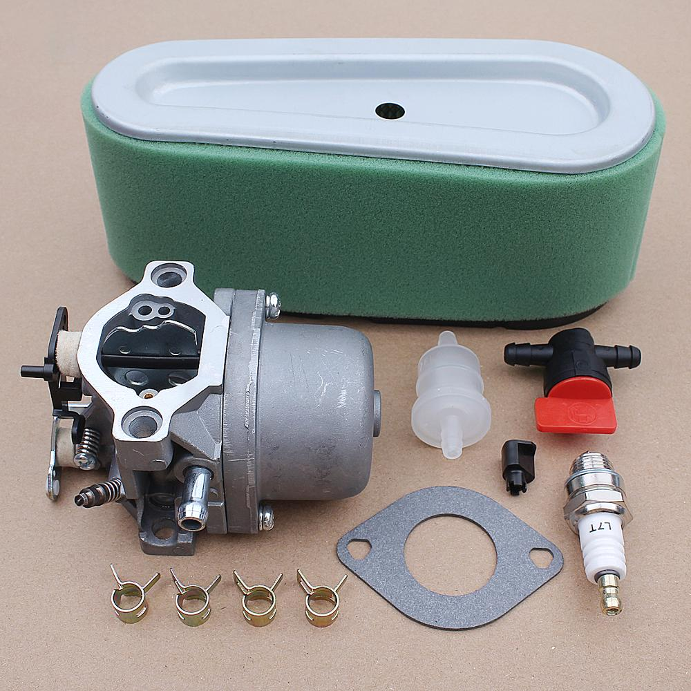 Tools : Carburetor Carb with Gasket O-ring Air Filter Kit for Briggs Stratton 498027 498231 799728 496894 493909 Engine Parts