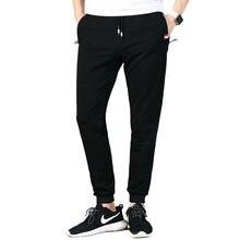 Moletom masculino novo outono inverno joggers calças cintura elástica solto algodão moletom para homem casual calças homme tamanho grande 619