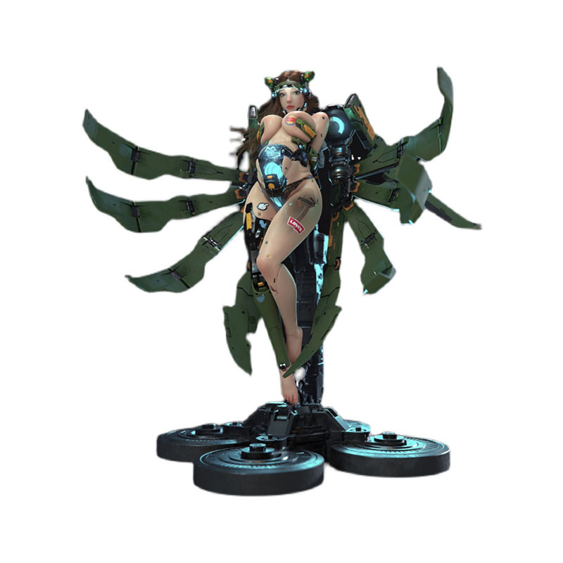 Mechanical Girl Ginny GK Limited Statue Figure 1