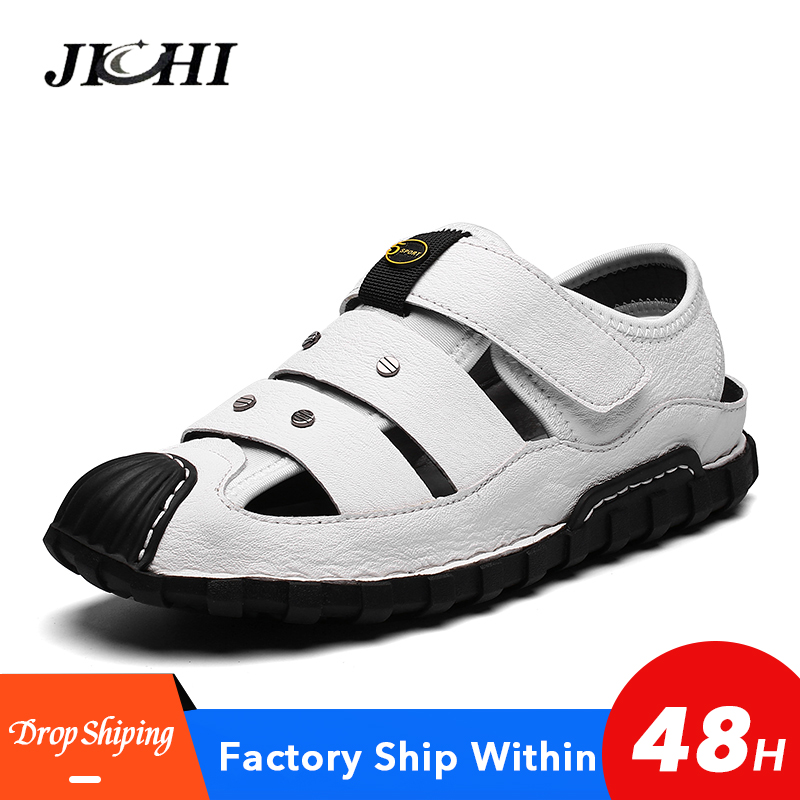 2020 High Quality Sandals Men Beach Comfort Casual Men Sandals Summer Original Walking Men Shoes Plus Size Black Breathable