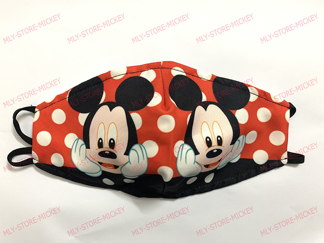1pcs Cute Mouse Print Mask Kids Adult Washable Fabric Mask PM 2.5 Protective Reusable Dust Masks Cartoon Children Mouth-Muffle 5