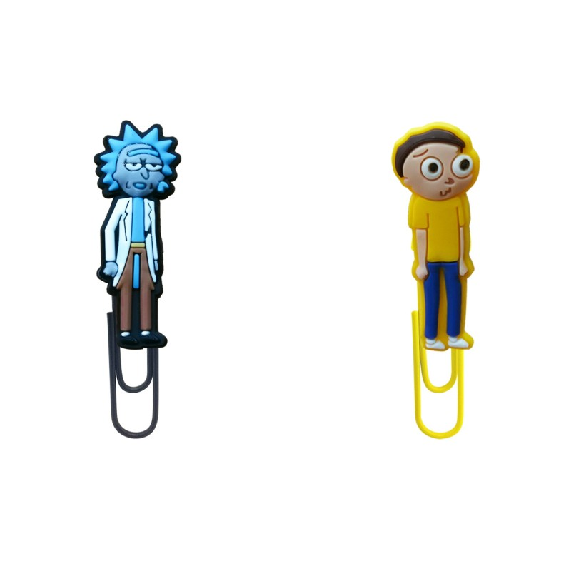 8pcs Rick And Morty Bookmarks For Books Mini Figure Paper Clips For School Teacher Creative Book Mark Office Supply Kids Gift