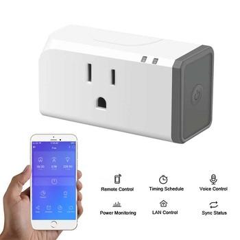 1/2/3pc Sonoff S31 WiFi Smart Socket 16A US Wireless Plug Smart Home Switch Power Sockets Work With Alexa Google Assistant