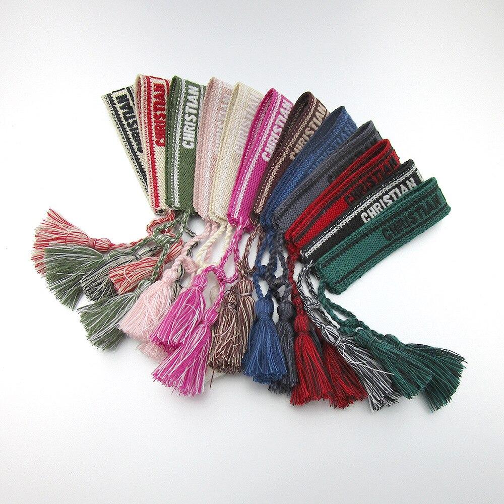 Светильник класса люкс регулируемый браслет дружбы для женщин в винтажном стиле с кисточками браслет вышивкой плетеные браслеты ювелирные...
