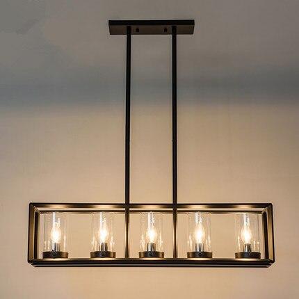 Grand Bar lumière Vintage pays plafonnier cuisine île pendentif lumières Antique en fer forgé éclairage industriel bureau
