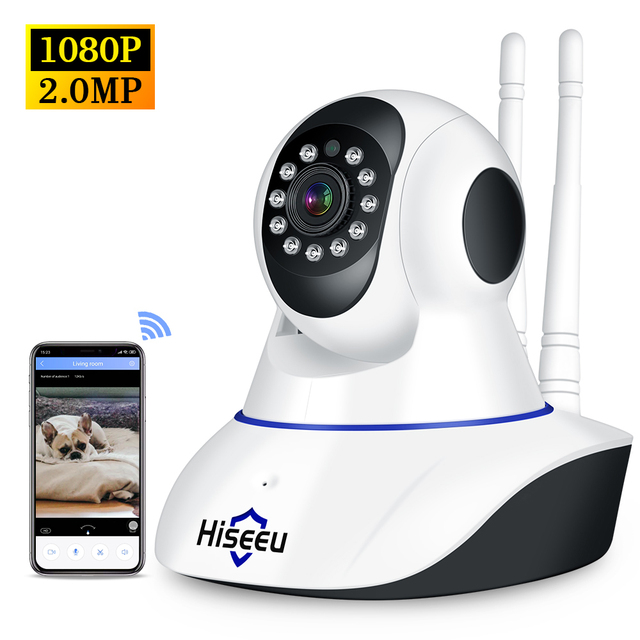 1080P 무선 WIFI 사진기 WIFI 팬 기울기 HD IP 사진기 2.0MP 양용 오디오 야간 시계 동의 탐지 CCTV 사진기