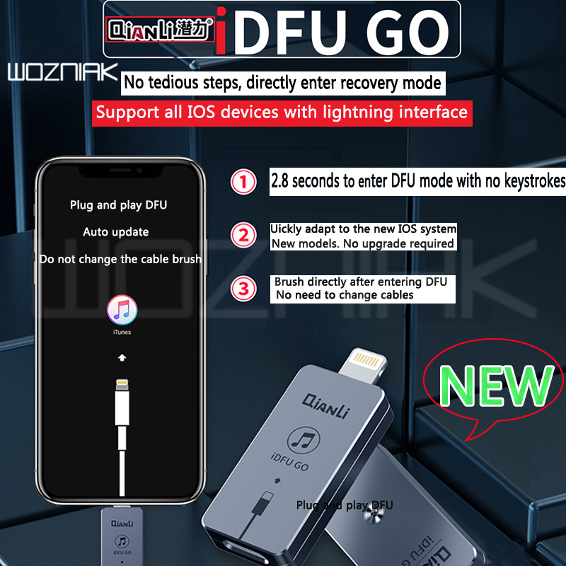 Qianli iDFU GO быстрый запуск артефакт перейти непосредственно в режим восстановления без утомительных 2,8 секунд