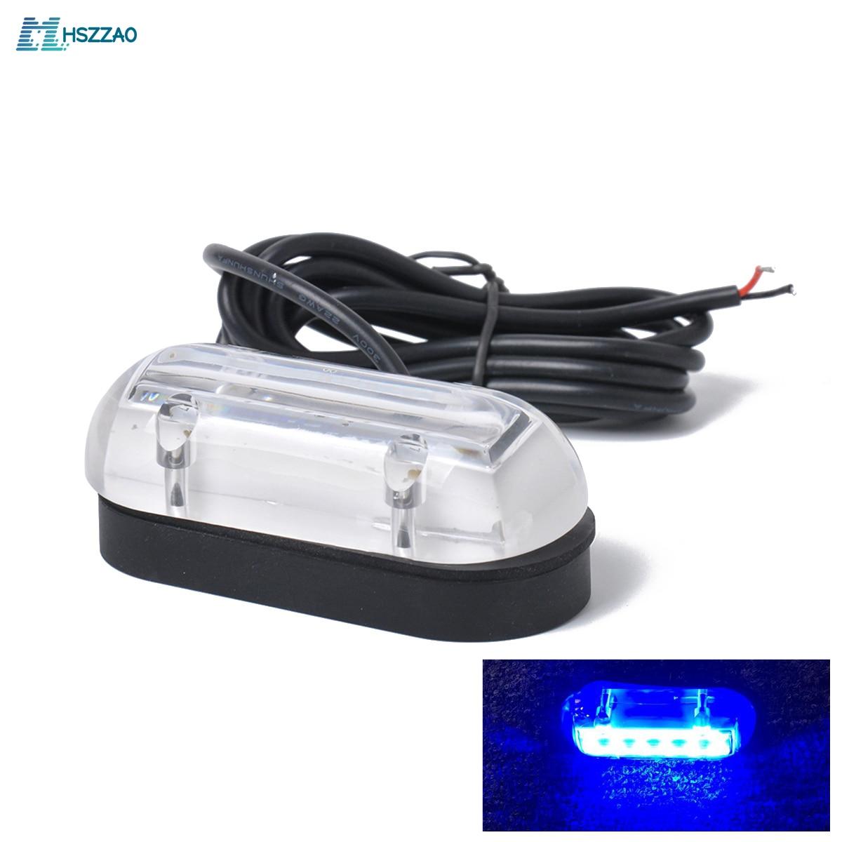 12V 6 светодиодный морской лодка подводный синий свет накладное освещение высокой интенсивности водонепроницаемый