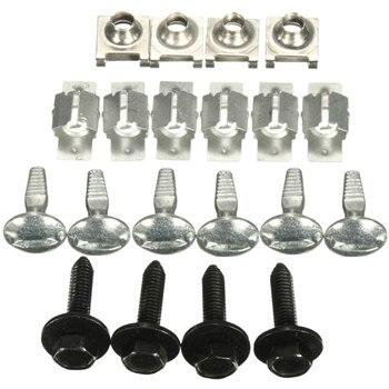 20 pçs capa do motor fixação fixação clipes parafusos kit para citroen c5 peugeot 407