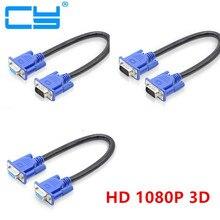 Короткий видеокабель 30 см, 50 см, HD15Pin, VGA, D Sub, кабель «Папа папа», M/M, «Папа мама» и «Мама мама», кабель RGB для монитора