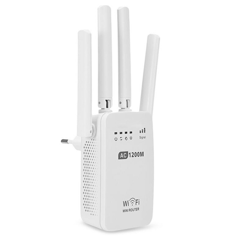 Wireless Cross Wall Router 1200M Dual-band Wifi Mini Enhanced High Power Repeater TP899