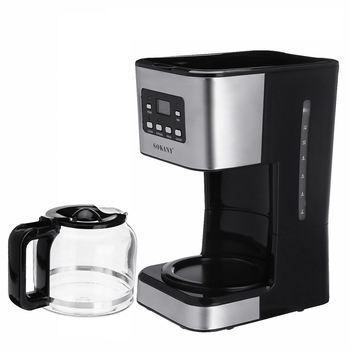 220V Coffee Machine 12 Cups For Espresso Cappuccino Latte Semi-Automatic Steam Coffee Maker Detachable Washable Coffeemaker 6
