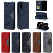 Leather Magnetic Case on For Fundas Samsung Galaxy A50s Flip