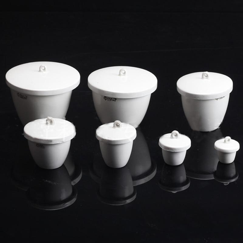 10 Pieces/pack Aluminium Oxide Ceramic Crucible With Cap Laboratory Equipment Porcelain Crucible