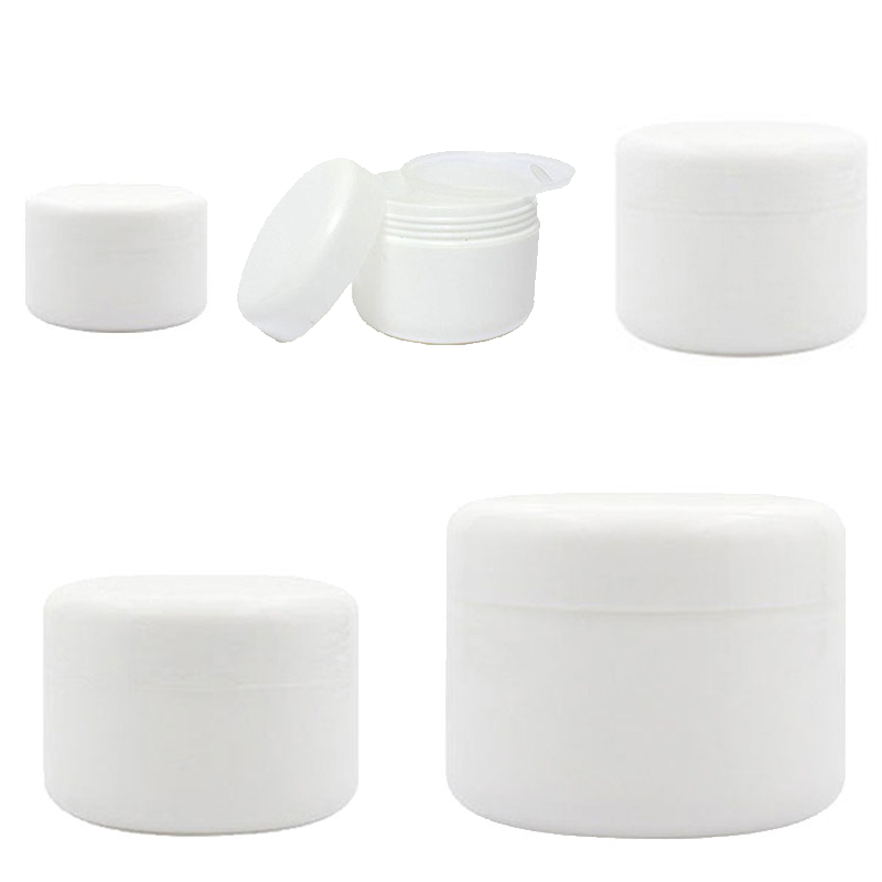 30Pcs Plastic Empty Makeup Jar Pot 10g/20g/30g/50g/100g Refillable Bottles Travel Face Cream Lotion Cosmetic Container White