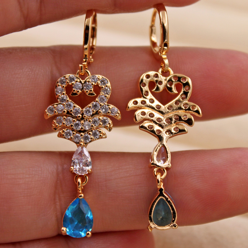 H2ee762c6909d473d97532298f77d76d0q - Trendy Vintage Drop Earrings For Women Gold Filled  Red Green Pink Lavender Zircon Earrings Gold  Earring Wedding  Jewelry
