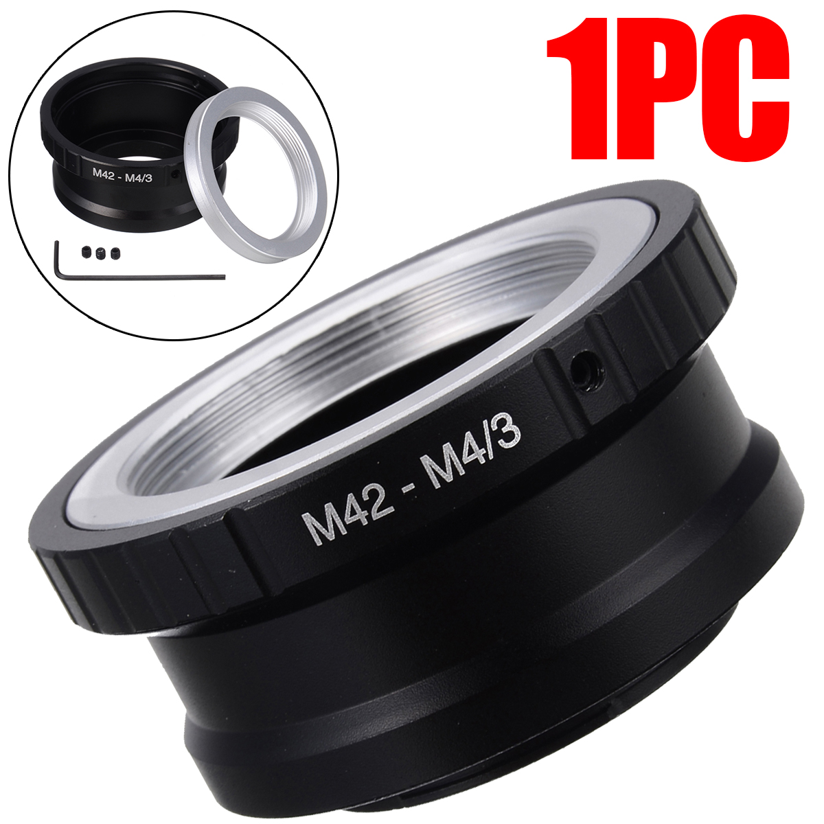 Mayitr 1PC Camera Lens Adapter Ring <font><b>M42</b></font> Lens To An Micro 4/3 <font><b>M4/3</b></font> MFT Mount For O-lympus Pen for Panasonic Lumix G image