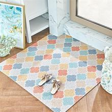15 принт с геометрическим узором Коврик для прихожей DIY Cut PVC ковер водонепроницаемый Противоскользящий коврик для входной двери кухонный коврик