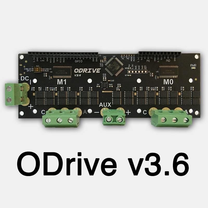 ODrive3.6 FOC BLDC AGV Servo Dual Motor Controller High Power Development Board