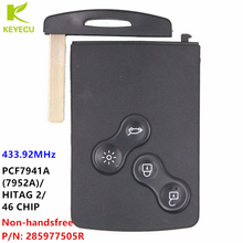 Keyecu Semi-Intelligente Smart Key Card 433Mhz PCF7941 Chip Voor Renault Megane Iii Fluence Laguna Iii Scenic 09-2015 285977505R