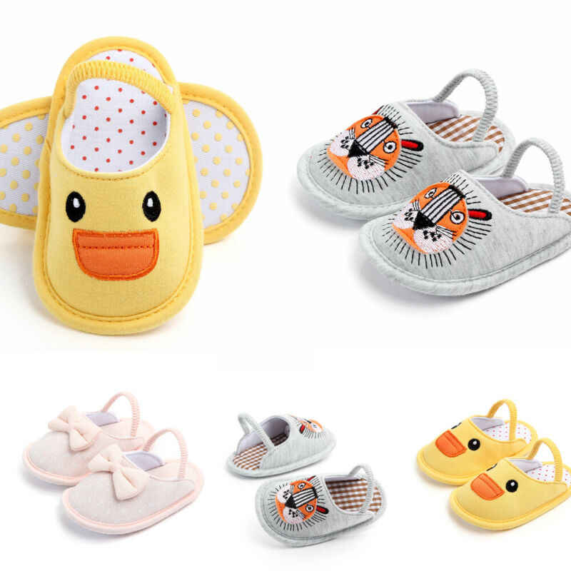 Pudcoco Neueste Neugeborenen Baby Junge Mädchen Weiche Sohle Baumwolle Slipper Krippe Schuhe Anti-rutsch Shose
