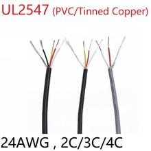 24AWG UL2547 sygnał kabel ekranowany PVC izolowany 2 3 4 rdzeń wzmacniacz kanał Audio miedziany przewód zasilający słuchawki DIY przewód sterujący tanie tanio Rohs CN (pochodzenie) Miedziane ze skrętek Amplifier Izolowane 300V -60 Deg C ~ 80 Deg C UL RoHS VW-I CSA FT1 2C 3C 4C