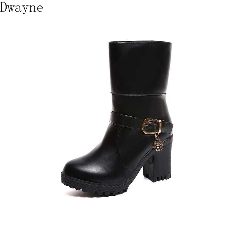 2019 herfst en winter Martin laarzen mode warme plus fluwelen dikke met midden laarzen dikke bodem ridder laarzen vrouwen
