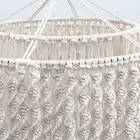 Macramé tissé à la main tenture murale abat jour coque couverture Boho décor tapisserie Homestay meubles décoratifs - 5