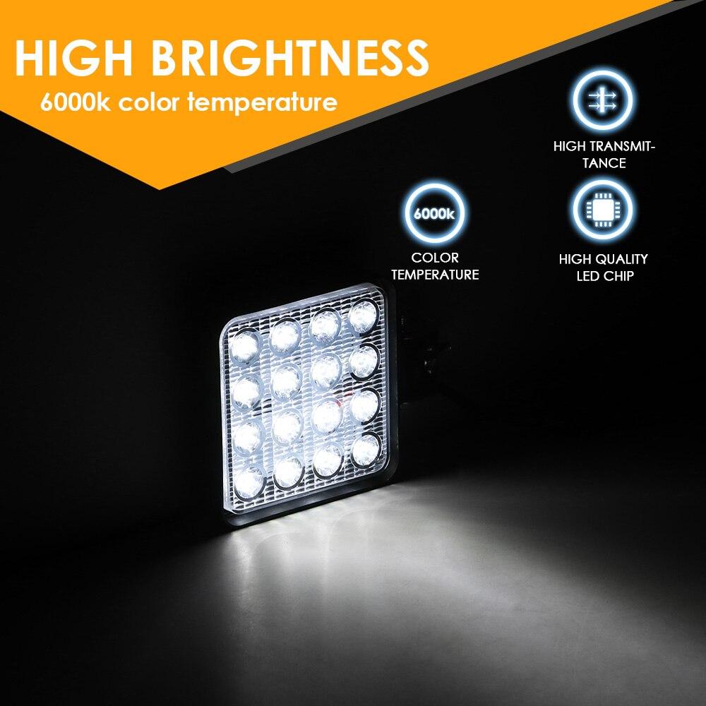 2021 новый автомобиль Рабочий светильник 48 Вт Светодиодный светильник вездеход светильник Водонепроницаемый мотоцикл Точечный светильник s ...
